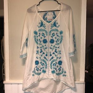 Johnny Was Workshop 3J Embroidered Tunic